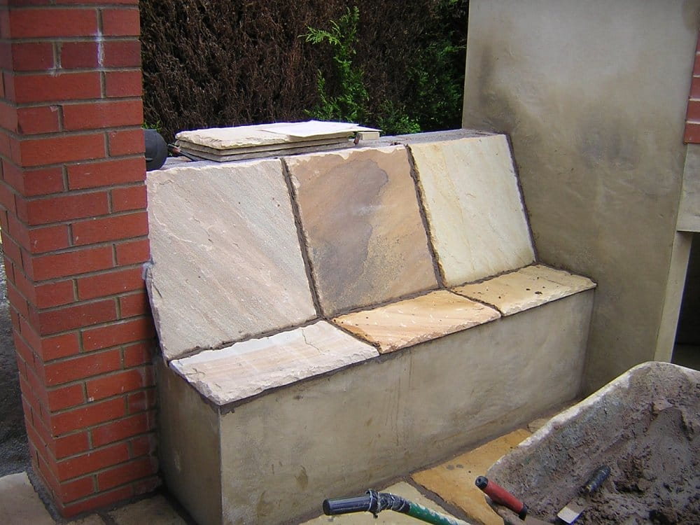 Outdoor Pizza Oven Seating